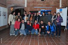 Compañeros de la Red Andina de Video en el marco del Festival Cortados 2010