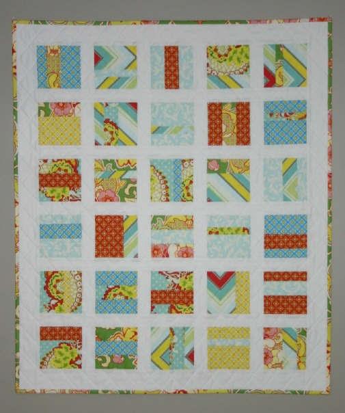 Twin fibers pop garden squares quilt for Front door quilt pattern