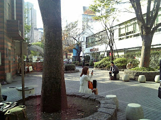 small square by sukiyabashi crossing