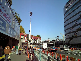 in front of the keisei ueno station