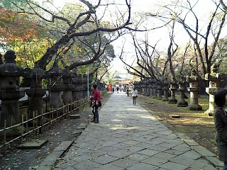 approach to the main shrine