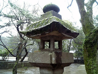 stone lantern in funabashi shrine