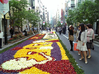 flower carpet in ginza