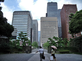 wadakura bridge and buildings of marunouchi district