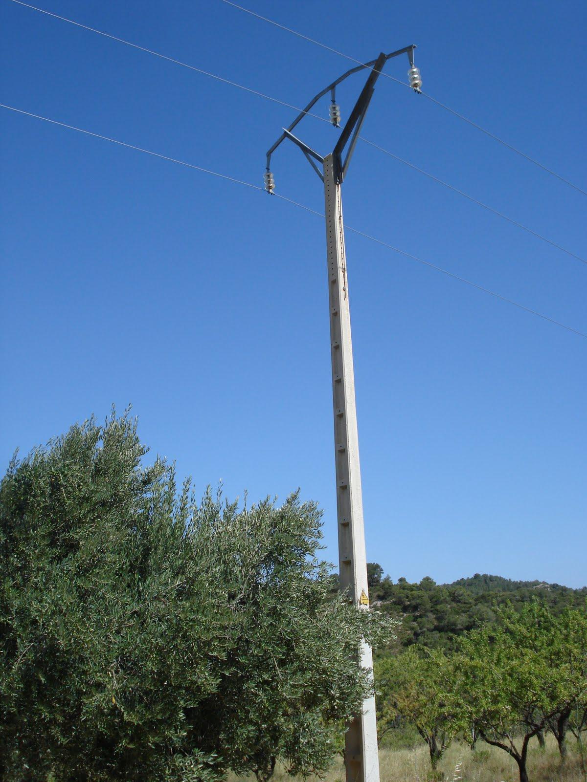 Electricidad Electricitat Postes De Alta Y Baja Tensi 243 N 3