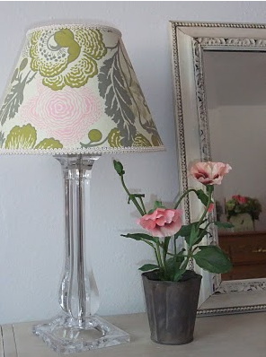 Frugal life project beautiful lamp shade redo for Redo lamp shades