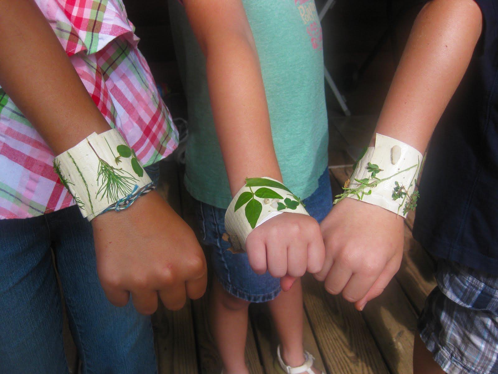 Fun Kids Activity Nature Bracelets