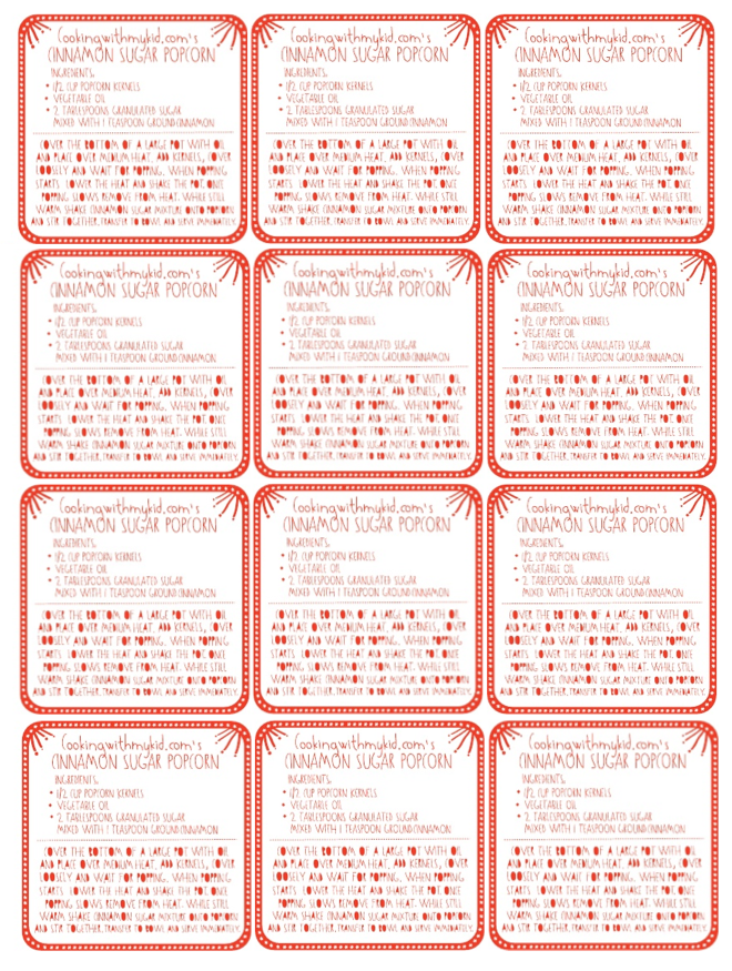 Popcorn Tag Printable And printable labels can