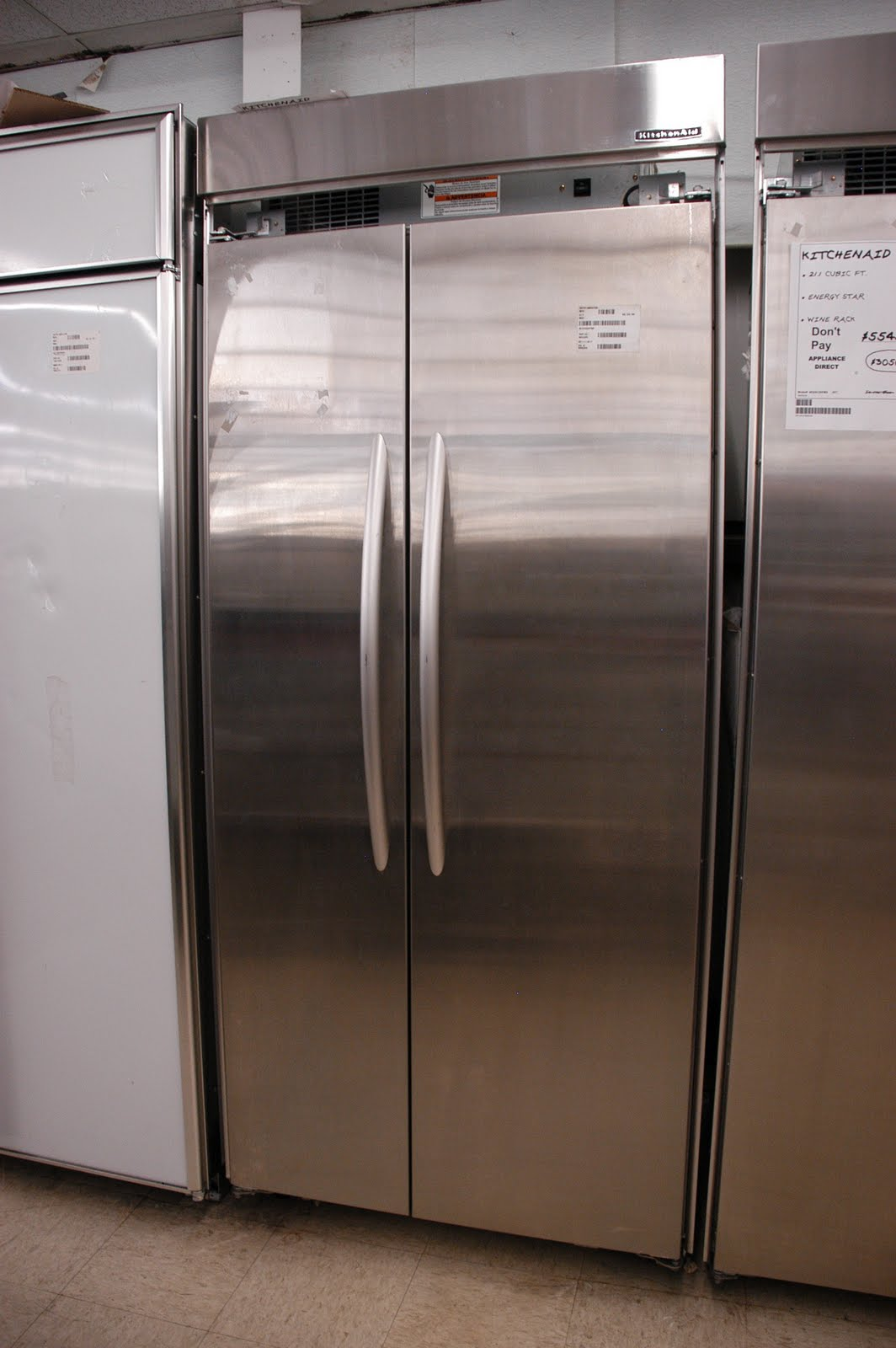 KitchenAid Stainless Steel 20.9 Cu. Ft. Side By Side Refrigerator   Orlando  Appliance Stores