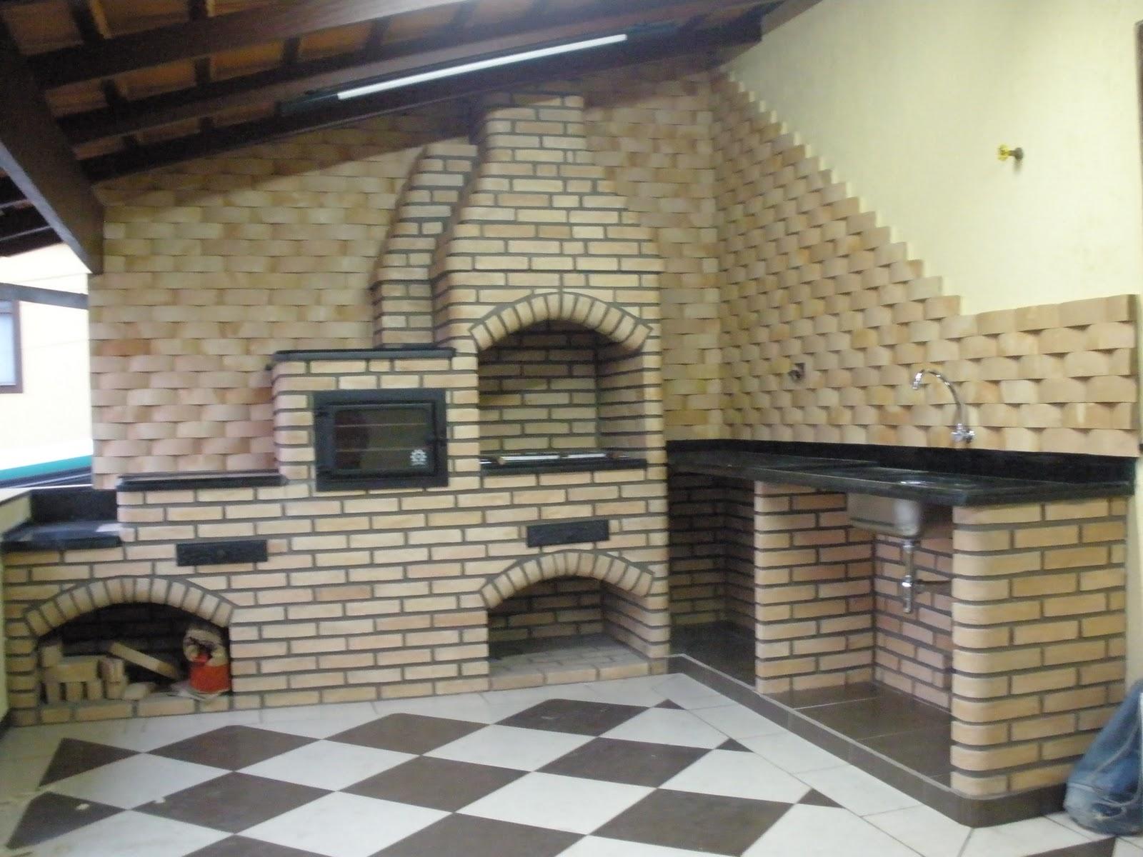 Balcao em tijolo a vista palha e revestimento de parede - Revestimiento de pared ...