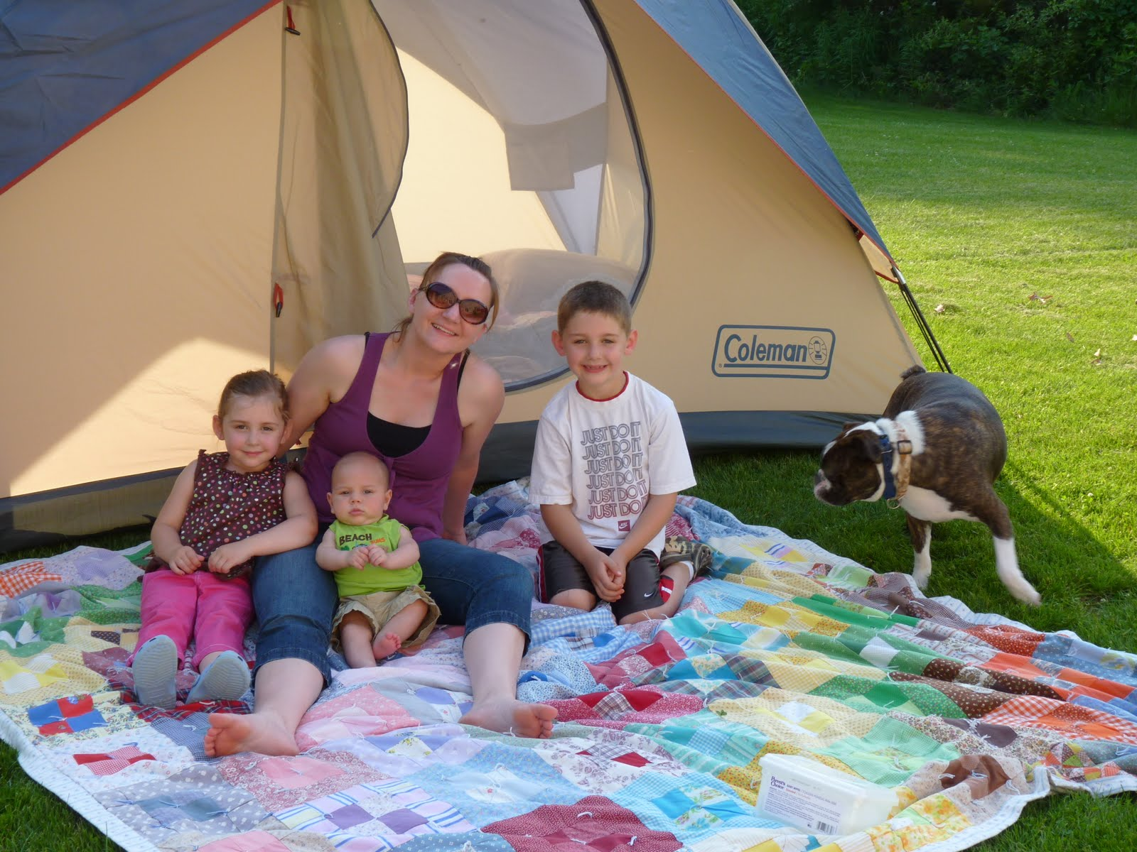 Camping Mommy and Kids