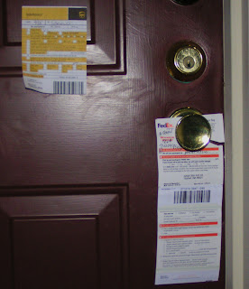 UPS InfoCard and FedEx Door Tag