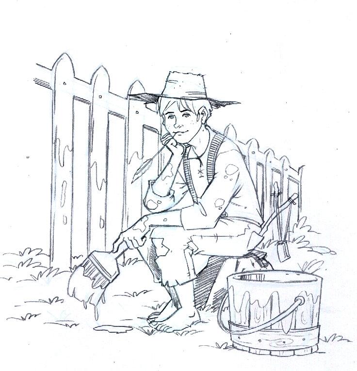 How To Draw Tom Sawyer