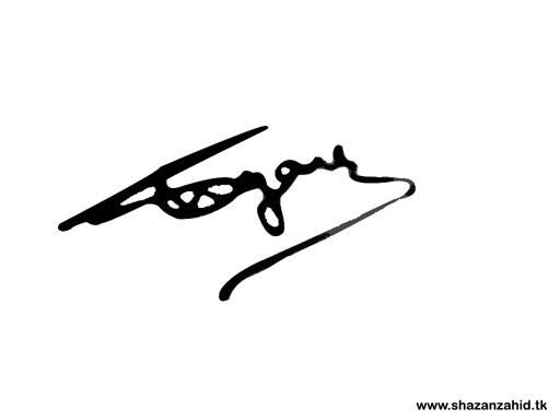 Make your own animated signature ~ Shazan Zahid: My Web World