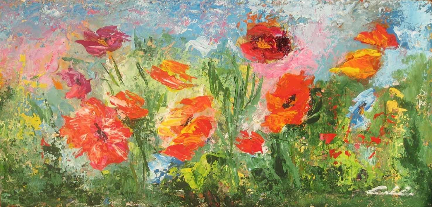 Lavostraarte di carla colombo alcuni fiori nature vive for Fiori dipinti a olio