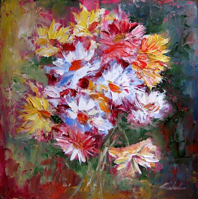 Nel mondo di krilu 39 ancora crisantemi dipinti for Fiori dipinti a olio