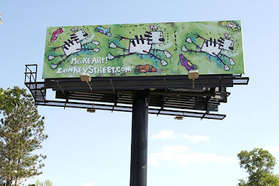 street art billboard