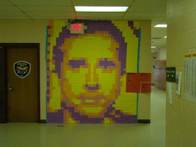 post it note mural