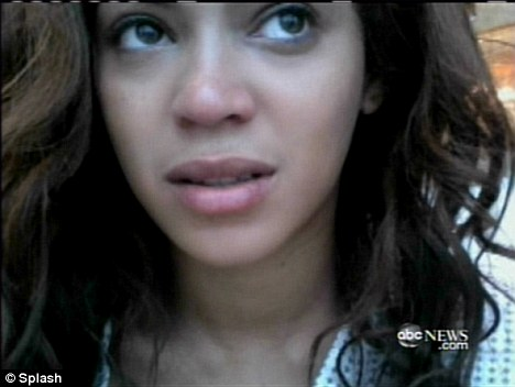 beyonce knowles without makeup. Wearing no make-up the star