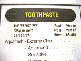 toothpaste: we do not use