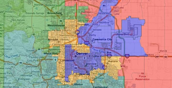 Races And Redistricting Colorado Redistricting - Colorado us house district map