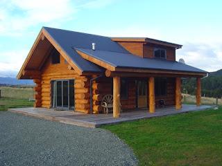 Natural log homes new zealand most beautiful houses in for Beautiful natural houses