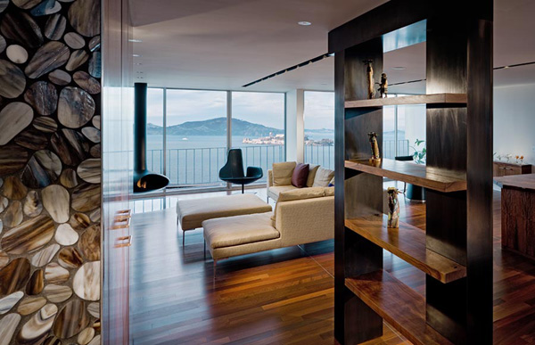 Luxury Penthouse Apartment Interior San Francisco California USA Most Bea