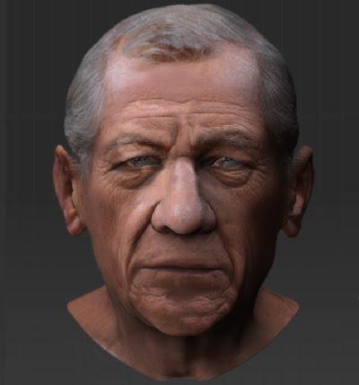 gandalf (Ian McKellen ) modeling in zbrush