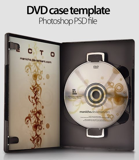 dvd cover template psd. DVD Case Template – Photoshop