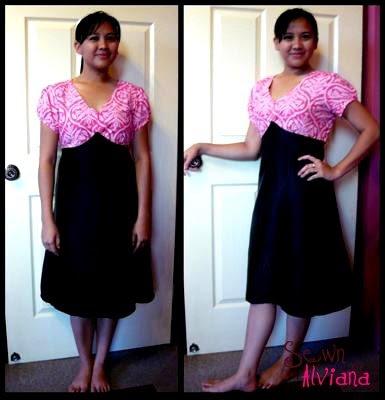 My Pink & Black Empire Dress