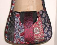 paisley necktie schoolbag