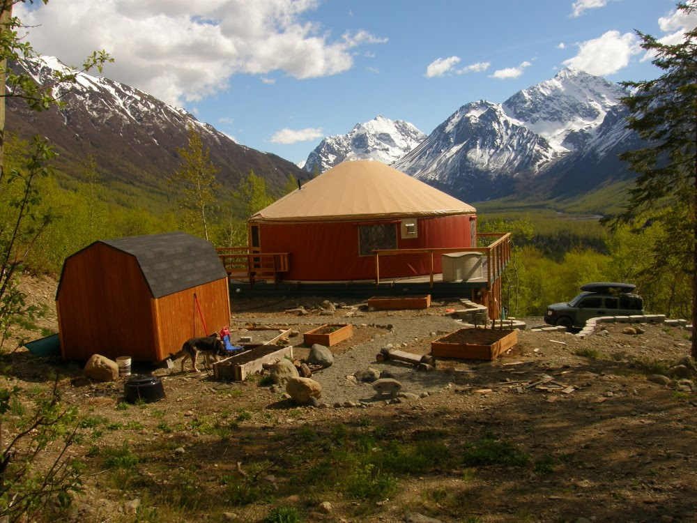 An Alaskan Family With A Yurt Alaskan Spring