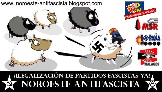 ¡Nueva pegatina antifascista en las calles!