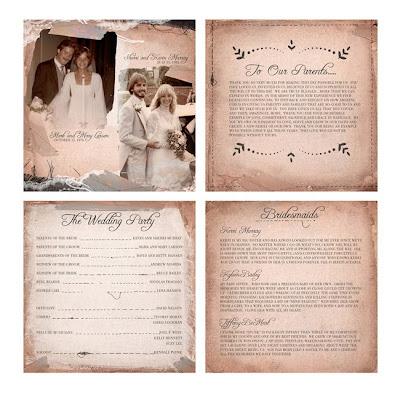 Beautiful Adobe Illustrator Wedding Programs