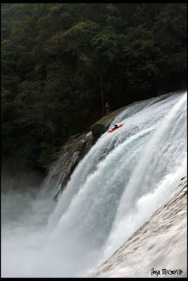 John McConville, Chris Baer, waterfall mexico el Toro the bull mist whitewater kayak WhereIsBaer.com Chris Baer