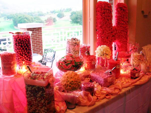 Candy Bar for a Wedding Reception Anniversary dinner