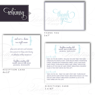 whimsy modern flourish wedding invitation inserts