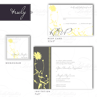 vintage floral monogram wedding invitation response card