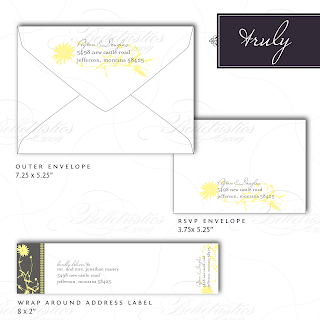 vintage floral return address wrap around address label