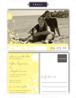 vintage floral photo save the date