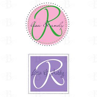 married monogram design logo