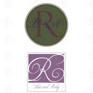 monogram design logo wedding personal