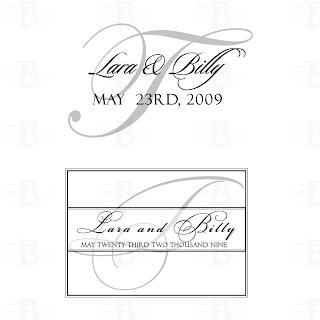 wedding monogram logo black silver