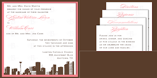 custom invitation design houston skyline