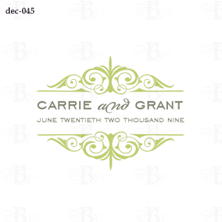 decorative wedding monogram logo design
