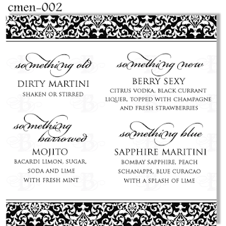 something old cocktail menu design