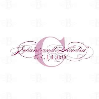 script wedding monogram design