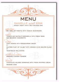 decorative menu wedding monogram logo design