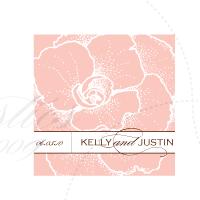 peony wedding logo monogram