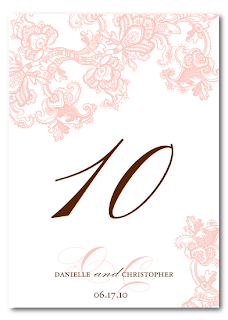 custom vintage lace wedding table number design